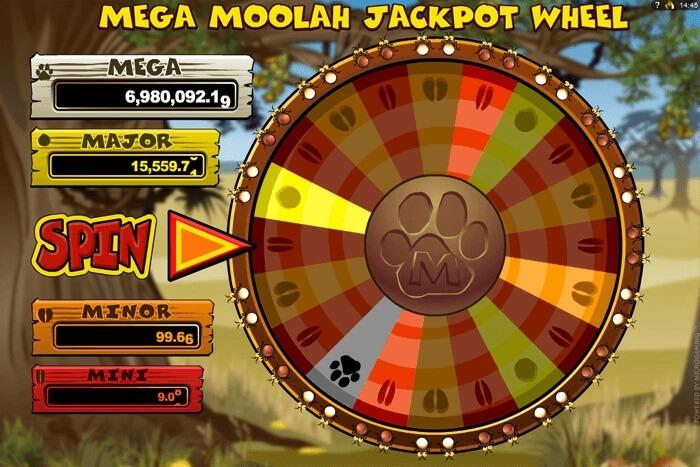 mega moolah slot jackpot wheel