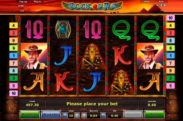 book of ra deluxe slot screen
