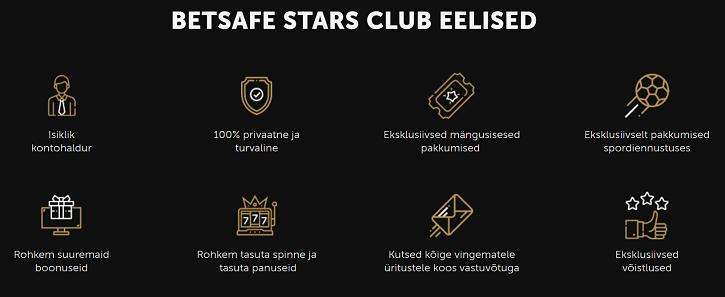 betsafe stars club pakkumised