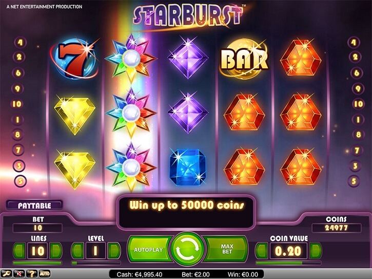 starburst slot screen