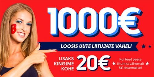 olybet kasiino 20 eurot liitumis boonus