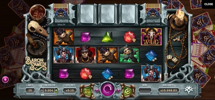 baron samedi slot screen