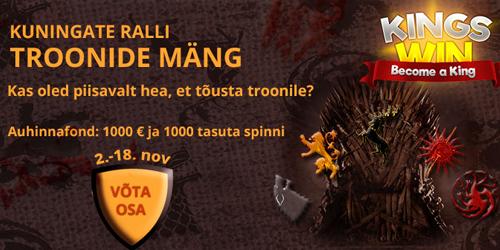 kingswin kasiino november tournament