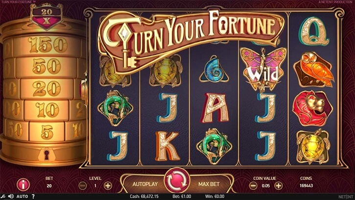turn your fortune slot screen