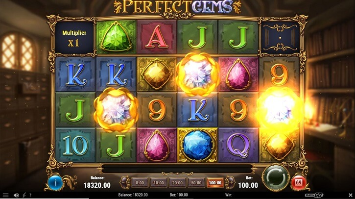 perfect gems slot screen
