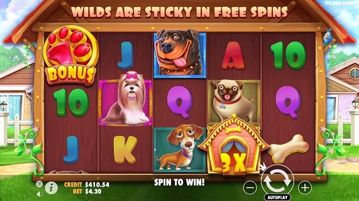 the dog house slot screen