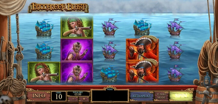 buccaneer blast slot screen