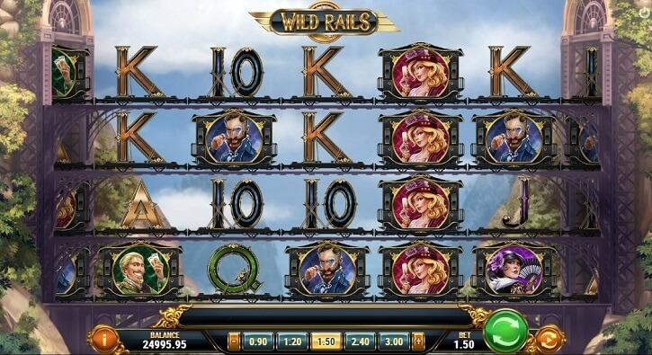 wild rails slot screen