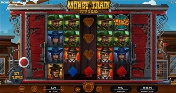 money train slot screen