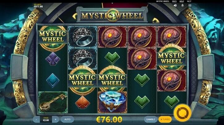mystic wheel slot screen
