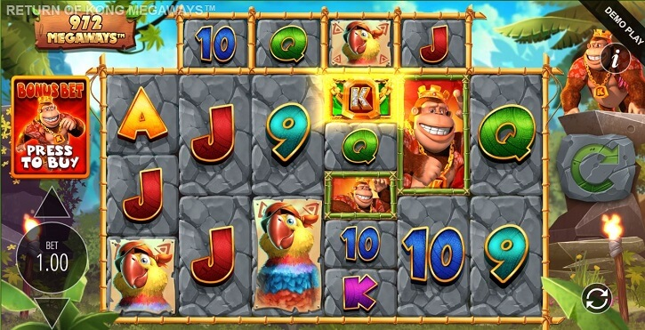 return of kong megaways slot screen