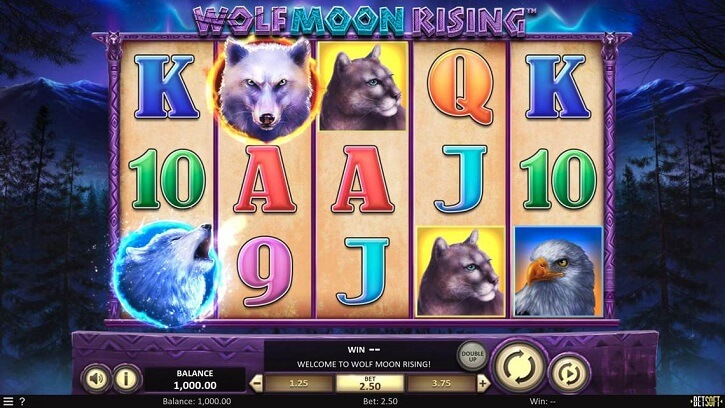 wolf moon rising slot screen