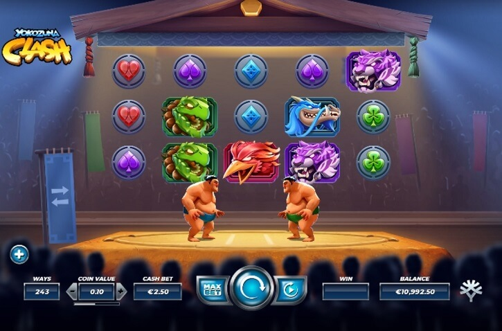 yokozuna clash slot screen
