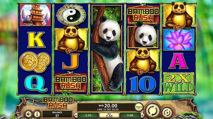 bamboo rush slot screen
