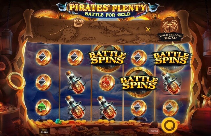 pirates plenty battle for gold slot screen