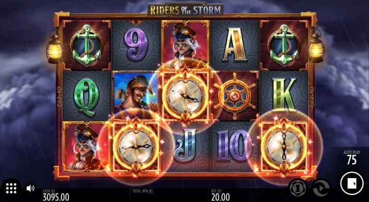 riders of the storm slot screen