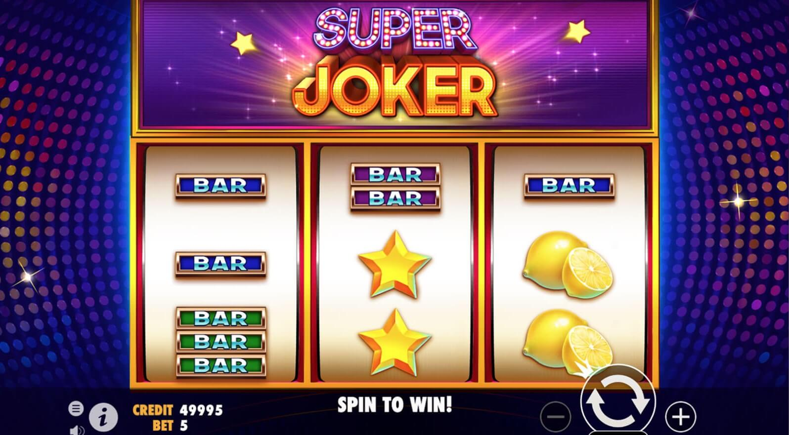 super joker slot screen