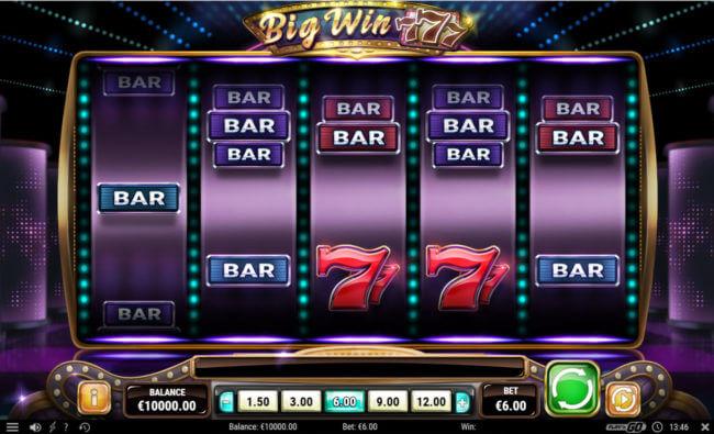 big win 777 slot screen