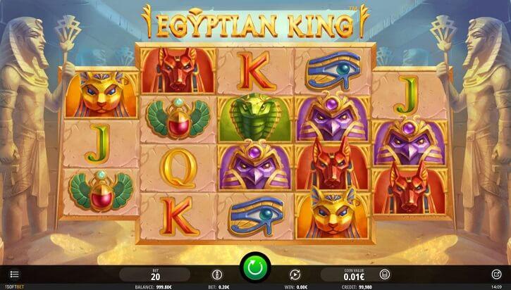 egyptian king slot screen