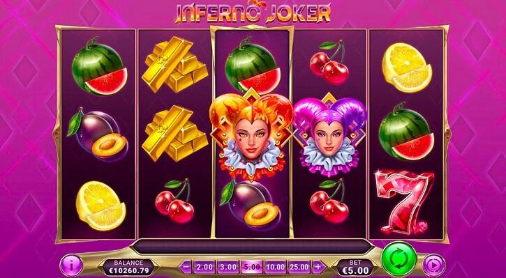 inferno joker slot screen