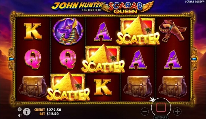 john hunter scarab queen slot screen