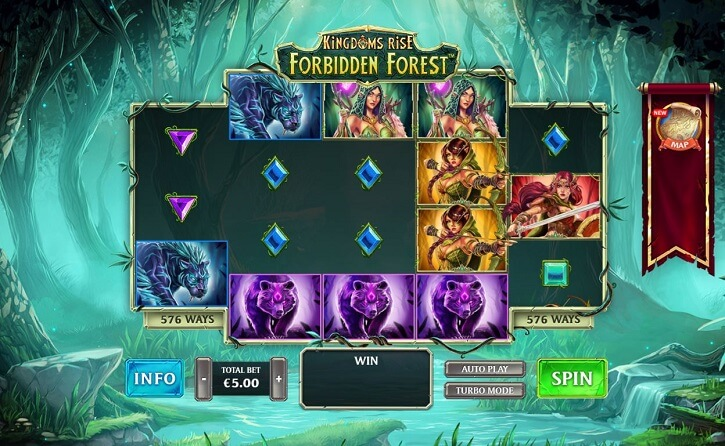 kingdoms rise forbidden forest slot screen