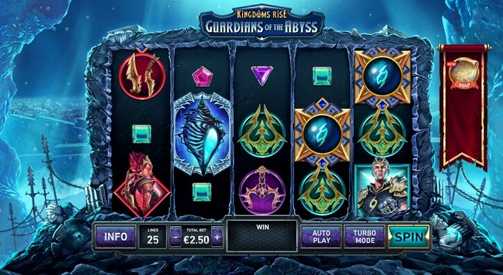 kingdoms rise guardians of the abyss slot screen