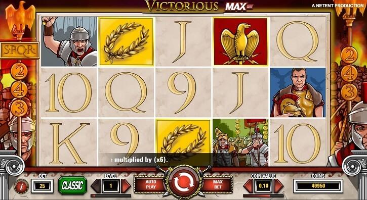 victorious max slot screen