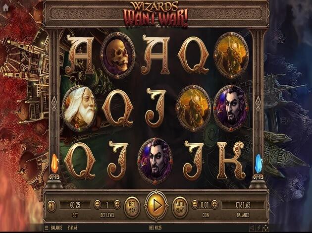 wizards want war slot screen