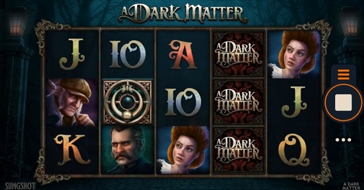 a dark matter slot screen