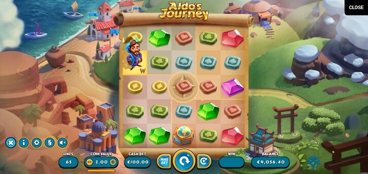 aldos journey slot screen