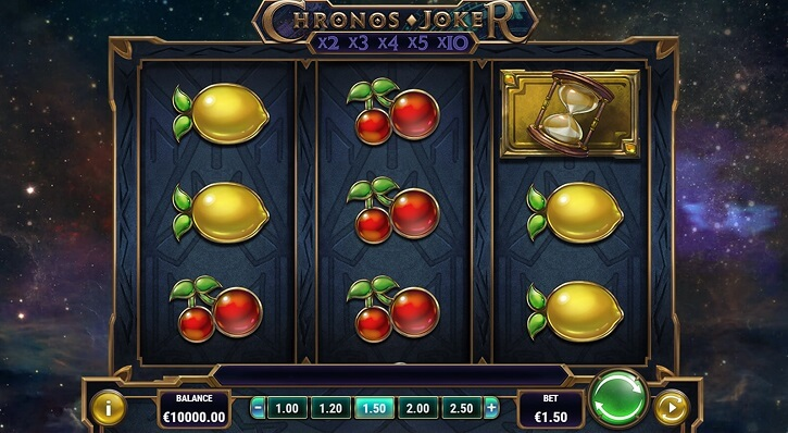 chronos joker slot screen