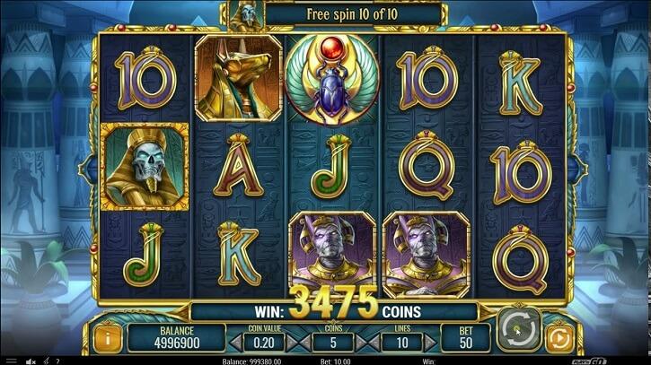 doom of egypt slot screen