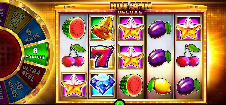 hot spin deluxe slot screen
