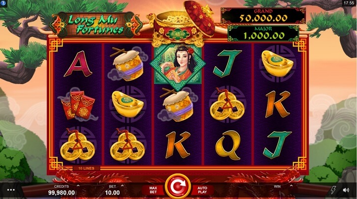 long mu fortunes slot screen