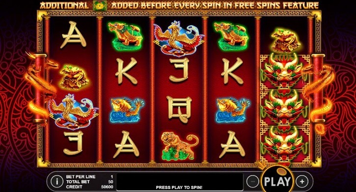lucky dragon slot screen