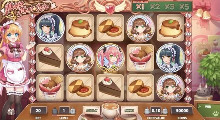 magic maid cafe slot screen