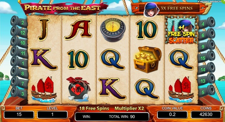 pirate from the east slot screen