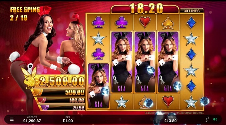 playboy gold jackpots slot freespins