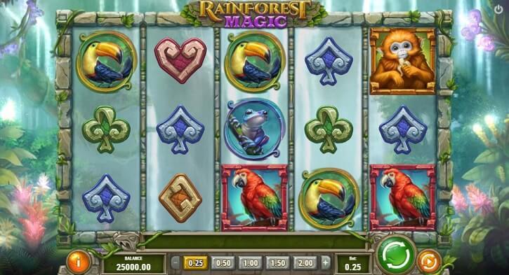 rainforest magic slot screen