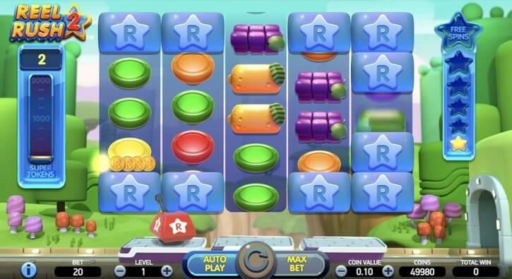 reel rush 2 slot screen