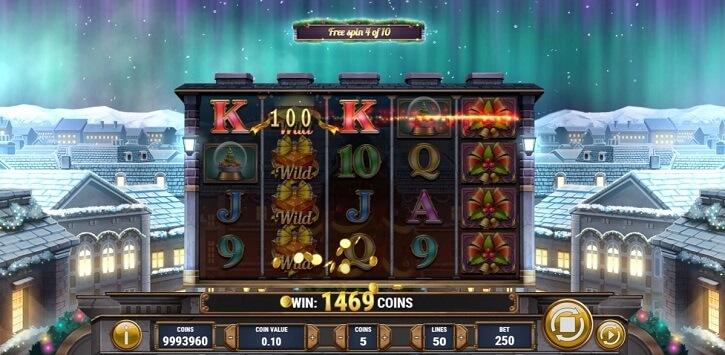xmas magic slot screen