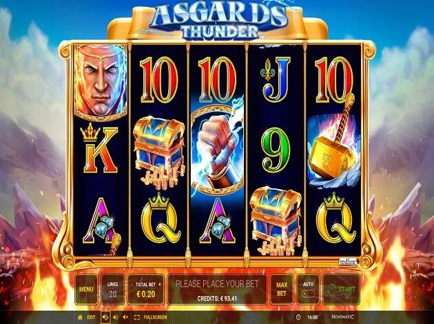 asgards thunder slot screen