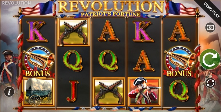 revolution patriots fortune slot screen
