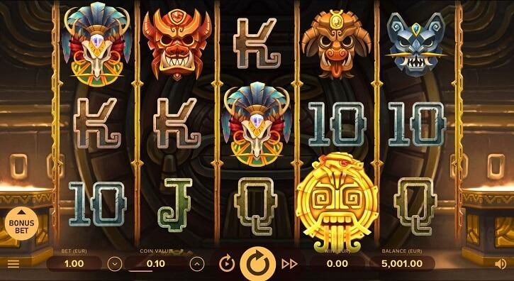 rise of maya slot screen main