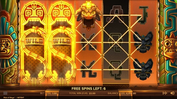 rise of maya slot screen