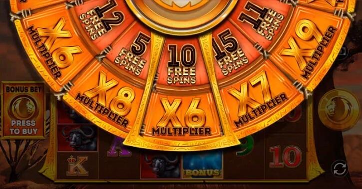 safari gold megaways slot wheel