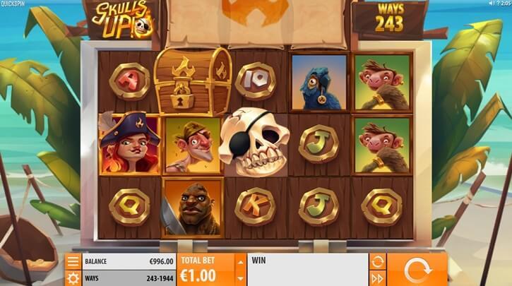 skulls up slot screen