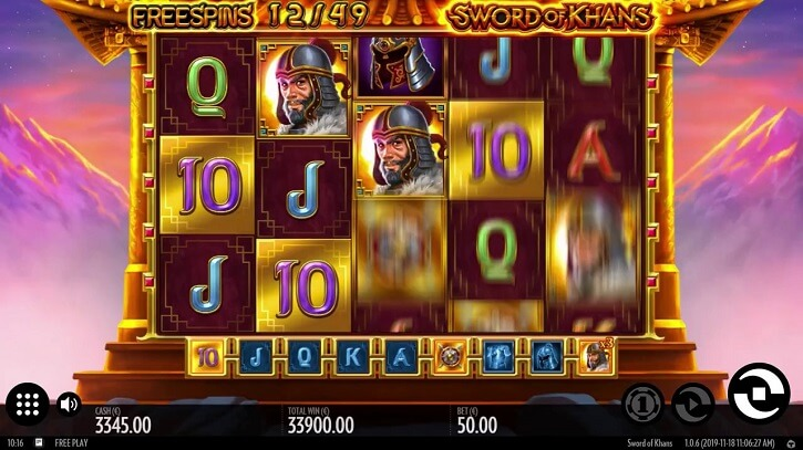 sword of khans slot freespins