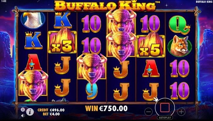 buffalo king slot screen